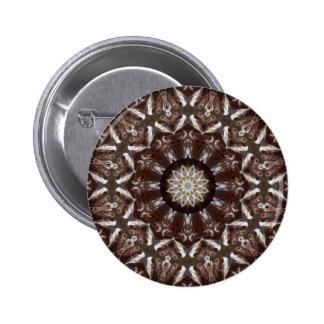 Kiefern-Kegel-Kaleidoskop Runder Button 5,7 Cm