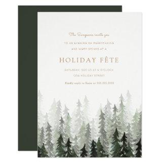 Kiefern-Waldfeiertags-Party Einladungen