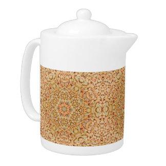 Kiesel-Kaleidoskop-Muster-Teekannen