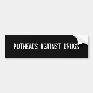 Kiffern gegen Drogen Auto Aufkleber