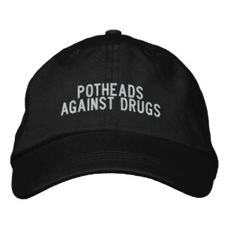 Kiffern gegen Drogen Bestickte Baseballmützen