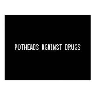 Kiffern gegen Drogen Postkarte