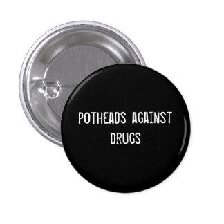 Kiffern gegen Drogen Runder Button 3,2 Cm