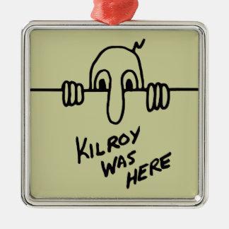 Kilroy war hier silbernes ornament
