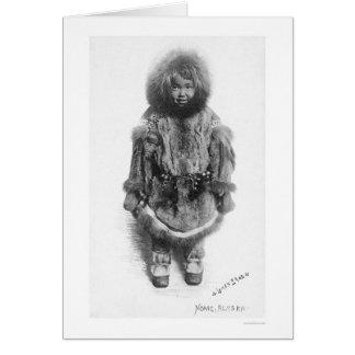 Kind im Pelz Nome Alaska 1920 Karte