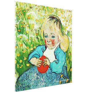 Kind mit Orange, 1890. Vincent van Gogh Galerie Gefaltete Leinwand