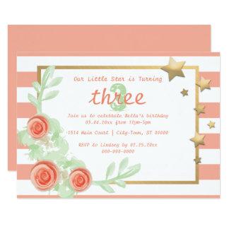 Kinder-/Baby-Geburtstags-Party laden - Karte