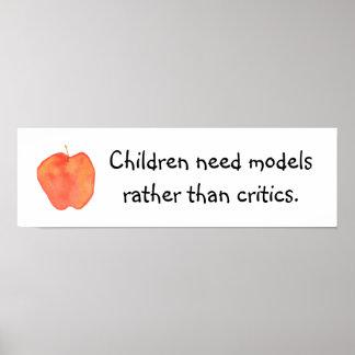 Kinder benötigen Modelle Poster