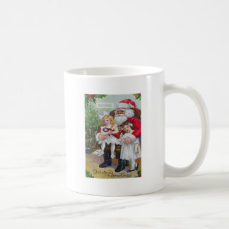 Kinder, die auf Sankt Schoss sitzen Tasse