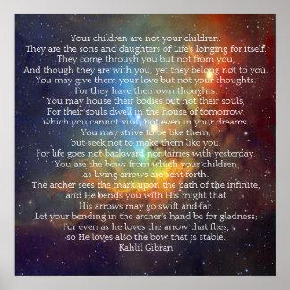 Kinder durch Kahlil Gibran Poster