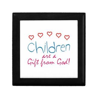 Kinder sind ein Geschenk Kleine Quadratische Schatulle