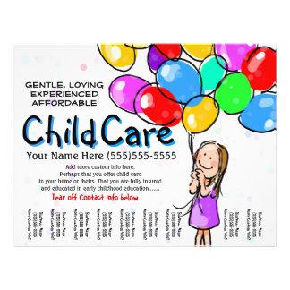 Kinderbetreuung. Babysitting. Tagesbetreuung. 21,6 X 27,9 Cm Flyer