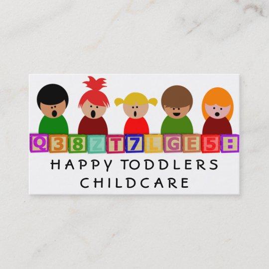 Kinderbetreuung Kindergarten Visitenkarte Zazzle At