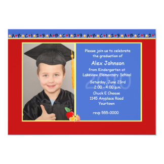 Kindergarten-Abschluss-Party Einladung