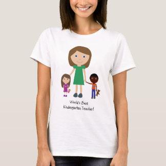 Kindergärtnerin-niedlicher Cartoon der Welt bester T-Shirt