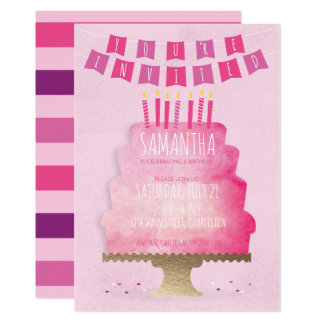 Kindergeburtstag-Einladung - hübsch im Rosa Karte