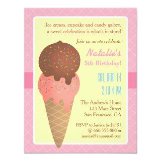 Kindergeburtstag, Eiscreme-Party Einladungen