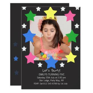 Kindergeburtstag hat   Foto-Party Einladung in der