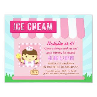 Kindergeburtstag, niedliche Eiscreme-Party 10,8 X 14 Cm Einladungskarte