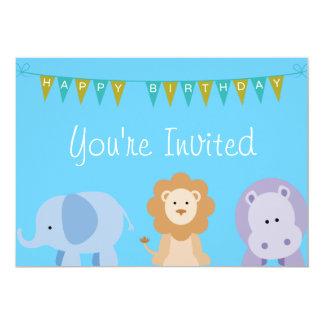 Kindergeburtstag-Tier-Einladung 12,7 X 17,8 Cm Einladungskarte