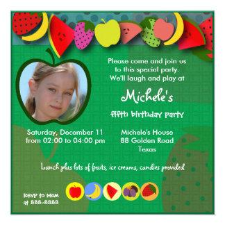 Kindergeburtstageinladung 045: Früchte