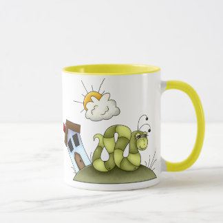 Kinderinchworm-Haus Tasse