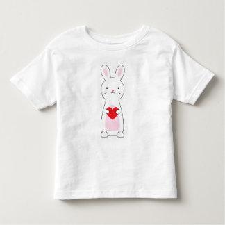 Kinderniedliches Häschenvalentine-Shirt Kleinkind T-shirt