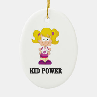 KinderPower yeah Ovales Keramik Ornament