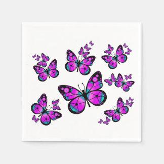 Kinderrosa Schmetterling Serviette