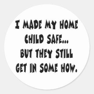 Kindersafe-Zuhause Stickers