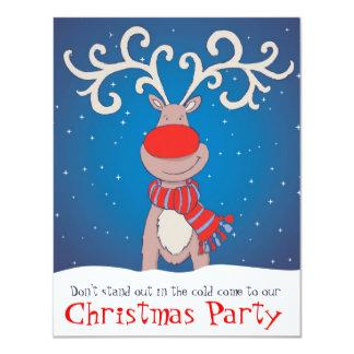 KinderweihnachtsParty Einladung schneite Ren Karte