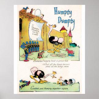 "Kinderzimmer-Reim ""Humpty Dumpty"" Plakat"