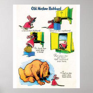 "Kinderzimmer-Reim-""Mutter Hubbard"" Plakat"