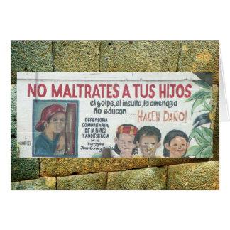 Kindesmissbrauchplakat (Wandgemälde), Ecudaor Grußkarte