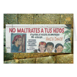 Kindesmissbrauchplakat (Wandgemälde), Ecudaor Karte