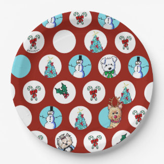 KiniArt verfolgt Schneemann-Weihnachten Pappteller
