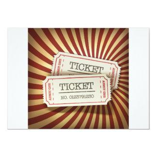 Kino etikettiert Einladungen