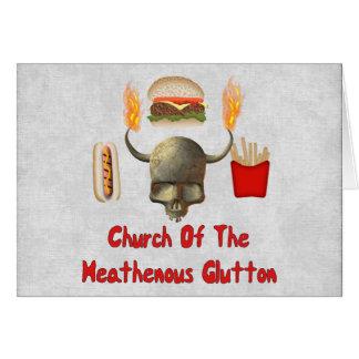 Kirche des Heathenous Glutton Mitteilungskarte