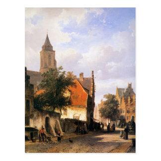 Kirche in Zaltbommel durch Cornelis-Springer Postkarte