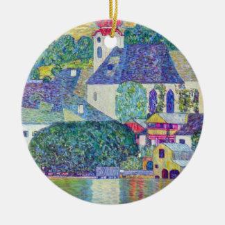 Kirche St. Wolfgang durch Gustav Klimt, Rundes Keramik Ornament