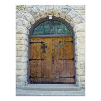 Kirchen-Eingang Postkarte