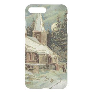 Kirchen-Immergrün spielt Winter-Schnee die iPhone 8 Plus/7 Plus Hülle