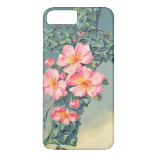 Kirchen-Rebe-rosa Blumen-christliches Blätter iPhone 8 Plus/7 Plus Hülle