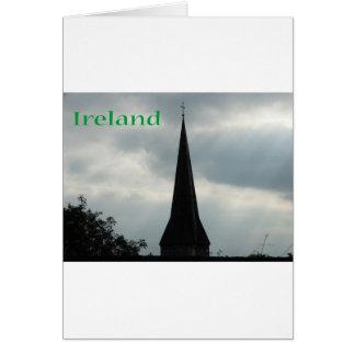 KircheSteeple mit Irland Grußkarte