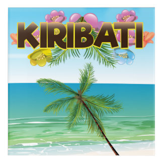 Kiribati-Inselreiseplakat Acryl Wandkunst