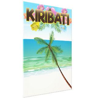 Kiribati-Inselreiseplakat Leinwanddruck