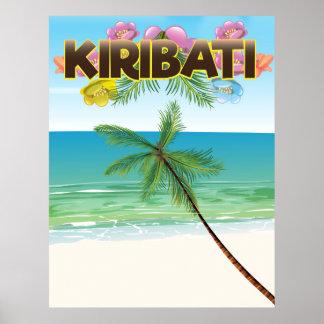 Kiribati-Inselreiseplakat Poster