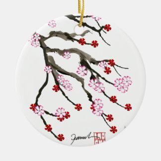 Kirschblüte 10 Tony Fernandes Rundes Keramik Ornament