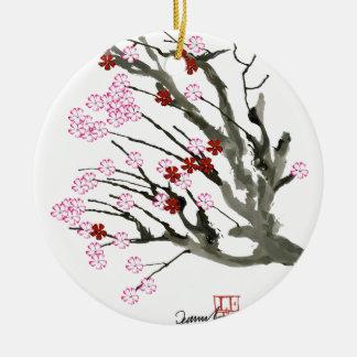 Kirschblüte 11 Tony Fernandes Rundes Keramik Ornament