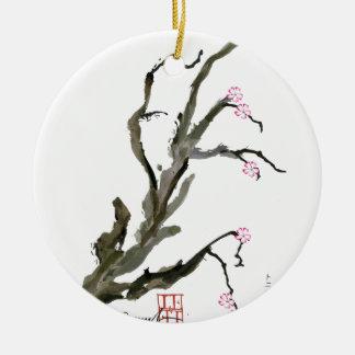 Kirschblüte 15 Tony Fernandes Rundes Keramik Ornament